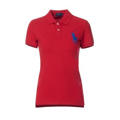 [支持购物卡]美国正品 POLO Ralph Lauren 拉夫劳伦女装夏季短袖经典大马标POLO衫红色