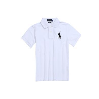 【支持購物卡】美國正品POLO Ralph Lauren拉夫勞倫經典女款大馬標純棉翻領修身短袖Polo衫白色