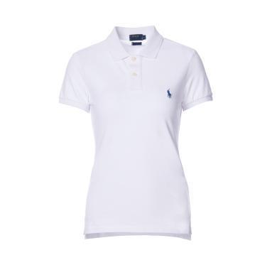 [支持購物卡]美國正品 POLO Ralph Lauren 拉夫勞倫女裝夏季短袖經典小馬標POLO衫白色