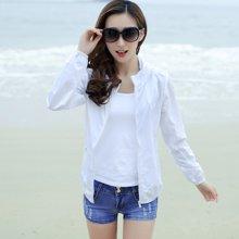 亿族 夏季新款空调衫长袖大码沙滩服短外套女装皮肤衣薄可收纳防晒衣