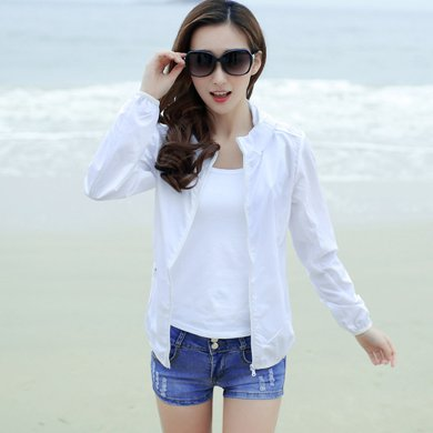 億族 夏季新款空調衫長袖大碼沙灘服短外套女裝皮膚衣薄可收納防曬衣