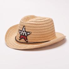 修允菲西部牛仔儿童草帽男童女童草编遮防晒阳帽子JD-42
