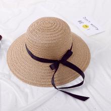 修允菲新款草帽时尚遮阳帽防晒沙滩蝴蝶女士大沿帽子JD-100