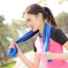 修允菲 夏季新品降溫冰涼巾戶外速干運動雙色冰毛巾冷感運動毛巾  RMJ-6422