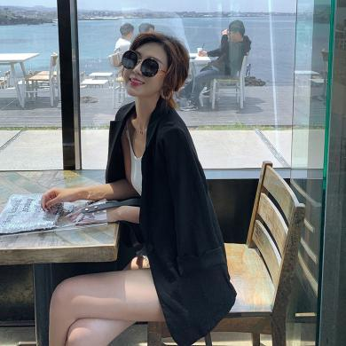 搭歌2019秋季新款大碼小西服韓版修身休閑顯瘦薄款外套女B3983