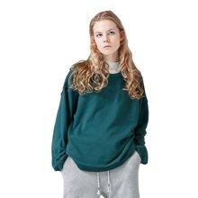 初语 原创卫衣女 BF风素净简单好穿棉质长袖宽松上衣8730521015