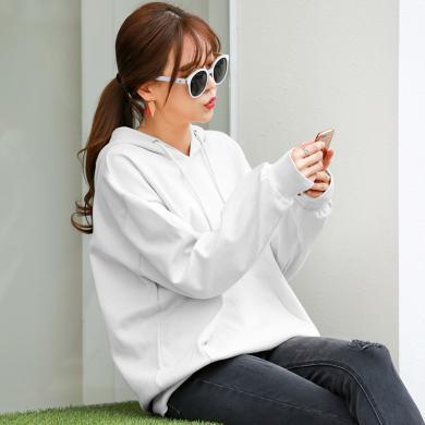 時尚解放2019初秋冬新款t恤女裝韓版時尚寬松大碼衛衣上衣WK2052