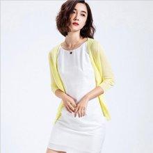 芃拉春夏韩版纯色针织衫开衫V领薄开衫女空调毛衫外套F020