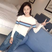百依恋歌 秋装新款女中学生韩版宽松学院风针织衫 8037