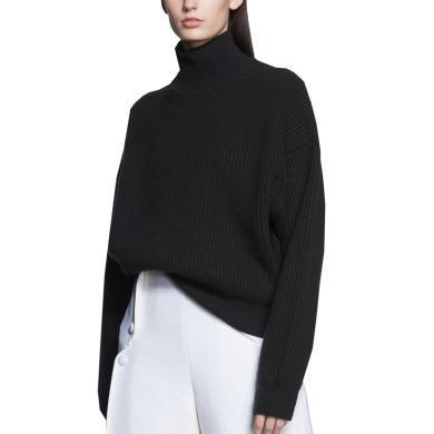 tobebery2018秋冬新款时尚黑色长袖打底针织chic毛衣半高领毛衣女