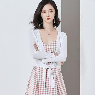 NewmanCity外搭開衫夏季女2019大碼薄短款披肩沙灘防曬衣針織衫空調衫ZHENZ8