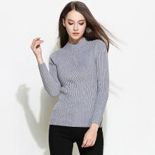 億族 秋冬裝新款大碼女裝胖MM加厚半高領打底衫針織衫女套頭修身毛衣