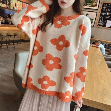 妙芙琳 2019秋季女装新款毛衣网红风慵懒套头毛衣衫ins上衣