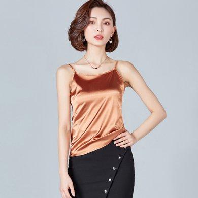 亿族  夏季新款百搭纯色打底衫背心性感女吊带衫