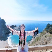tobebery2019夏季新款裙子民族风海边度假波西米亚长裙高腰宽松显瘦沙滩裙连衣裙女