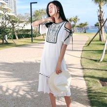 tobebery白色雪紡長裙子超仙度假沙灘裙ins超火的連衣裙女夏2018新款海邊