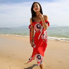 tobebery巴厘島沙灘裙女夏2018新款度假雪紡吊帶裙子顯瘦ins超火的連衣裙