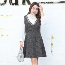 诗铭洛可2018秋装新款大码女装韩版显瘦两件套连衣裙1081