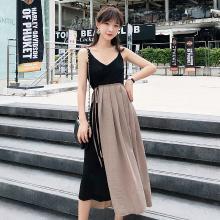 搭歌2019吊带连衣裙女夏新款中长款度假裙子巴厘岛泰国旅游裙子A1636
