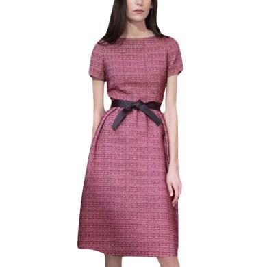 名媛收腰裙子時尚氣質中裙2019夏裝新款短袖修身顯瘦連衣裙顯瘦女