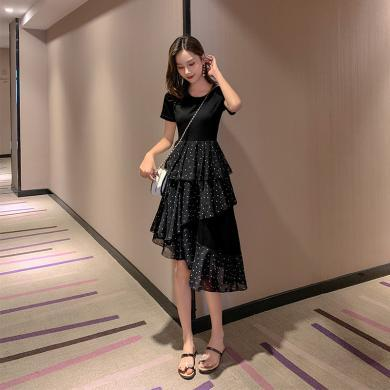 MUYANG韓版荷葉邊中長款裙子1387