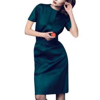 OL氣質名媛連衣裙女裝夏裝2019新款顯瘦職業中裙性感修身包臀裙子