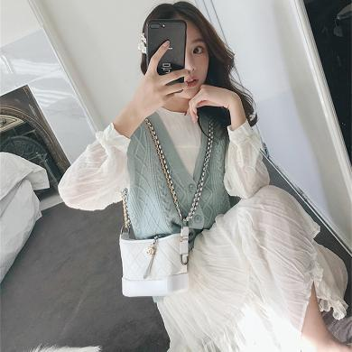 CAVS法國小眾秋2019新款女裝秋裝維多利亞套裝復古法式連衣裙子HD6824
