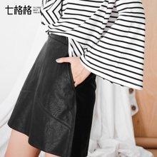 皮裙半身裙女a字型短高腰PU2018秋装新款包臀港味chic风原宿韩版