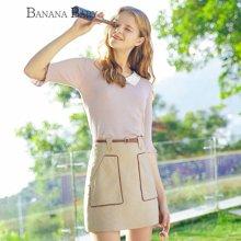 BANANA BABY2018春季新品经典格子大口袋半身裙A字裙显瘦短裙韩版D81Q935