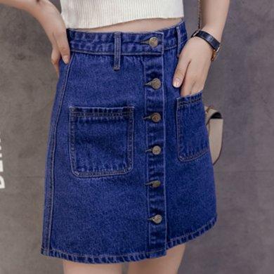 億族 牛仔裙A字裙高腰短裙子女顯瘦韓版牛仔半身裙女裙子新款