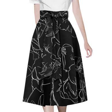 tobebery歐美時尚復古風半身裙2020春季新款寬松顯瘦中長裙名媛女