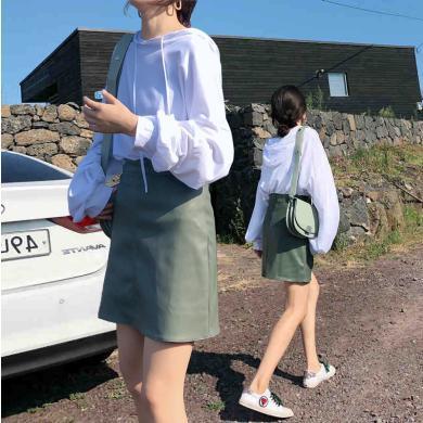 CAVS套裝女2019新款顯瘦洋氣減齡時尚氣質小香風短裙兩件套女秋裝HD7991