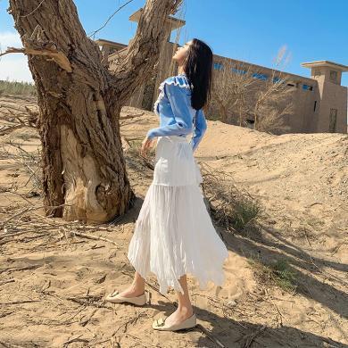 秋裝女2019新款套裝時尚休閑長袖針織衫甜美半身裙子