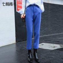 新品 七格格休闲裤女学生新款韩版高腰宽松百搭西装直筒九分裤子潮