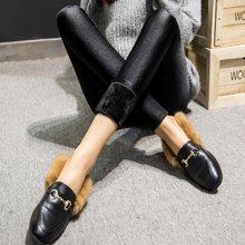 百依恋歌 女士加厚加绒修身显瘦光泽裤 17F1212