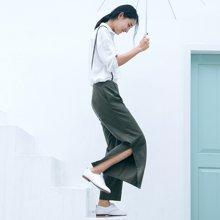 素缕夏装2018新款女背带阔腿裤高腰宽松九分裤显瘦休闲裤HS8212媫