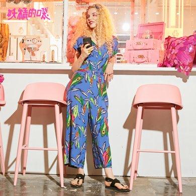 妖精的口袋Y长裤女新款夏装2018新款优雅韩版chic?#31508;?#39654;连体裤女Q