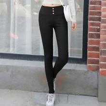 亿族 秋季新款外穿打底裤女薄款弹力紧身裤修身显瘦高腰小脚裤