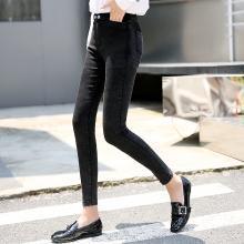 搭歌打底裤女秋冬新款裤子女新款韩版外穿小脚铅笔裤修身长裤B 0035