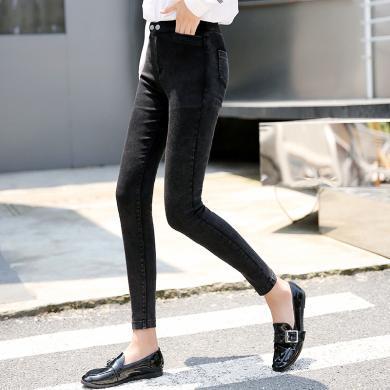 搭歌打底褲女秋冬新款褲子女新款韓版外穿小腳鉛筆褲修身長褲B 0035