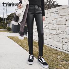 pu皮裤子女春装2018新款女装韩版高腰黑色百搭显瘦学生小脚休闲裤
