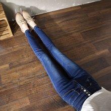 DOWISI實拍2019新款春季顯瘦牛仔褲女高腰修身彈力排扣長褲YKNZ1965