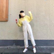 搭歌2018秋季韩版女装学院风宽松抽绳背带裤收腰连体裤子SK77646