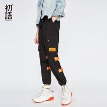 初語運動褲女韓版bf寬松帥氣嘻哈少女闊腿褲子8831902016
