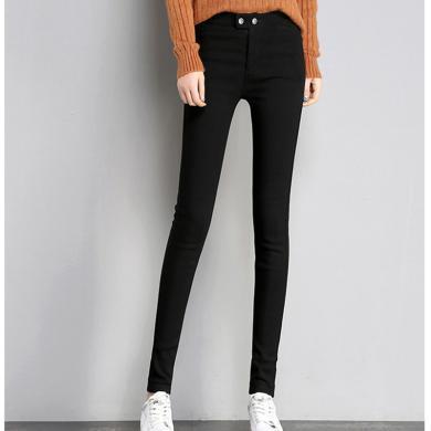 搭歌 2019新款打底裤女装秋季小脚裤韩版紧身弹力显瘦铅笔长裤 B0026