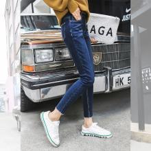 新品 七格格 牛仔裤长裤春秋装女2018新款韩版高腰显瘦百搭小脚铅笔裤子