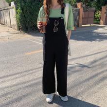 搭歌2019春夏新款韩版宽松吊带连体裤子直筒休闲背带裤女RDK75192