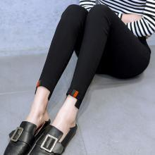 百依恋歌 春装新款织带女士修身九分裤外穿打底裤 QT9501