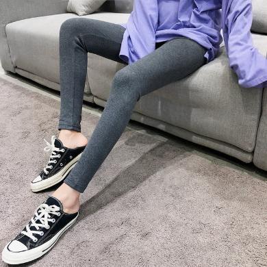 NewmanCity新款小黑腰九分褲女春款外穿打底褲薄款 貼標純棉打底褲Dadiku8