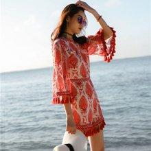 tobebery2019夏季新款連體褲女巴厘島沙灘裙露背性感海邊度假裙顯瘦連衣裙褲